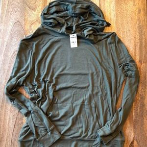Express One Eleven Drawstring Popover Hoodie